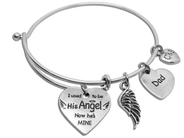 You're My Angel Now - Parent Remembrance Bangle - Charms & Bangles - 2