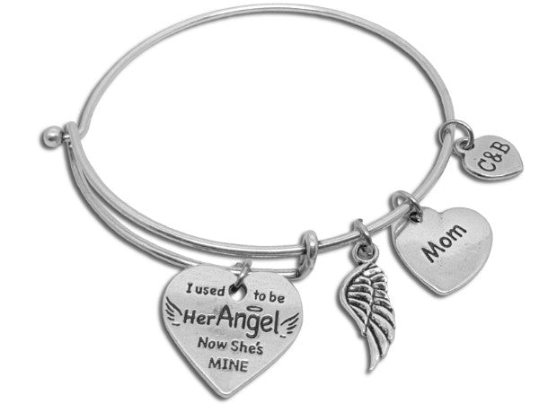 You're My Angel Now - Parent Remembrance Bangle - Charms & Bangles - 3