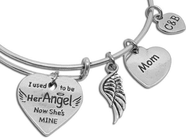 You're My Angel Now - Parent Remembrance Bangle - Charms & Bangles - 4
