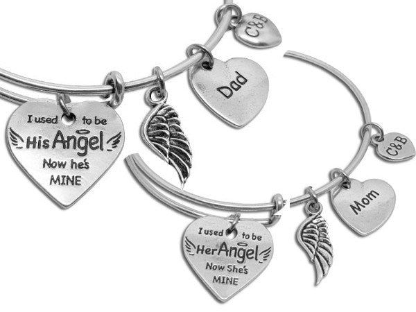 You're My Angel Now - Parent Remembrance Bangle - Charms & Bangles - 5