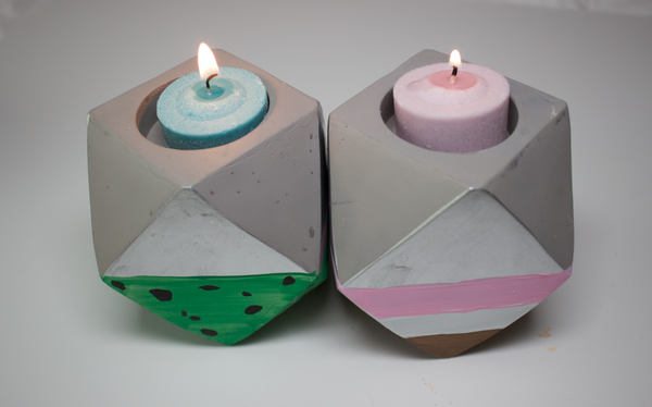 Ice cream candle holders