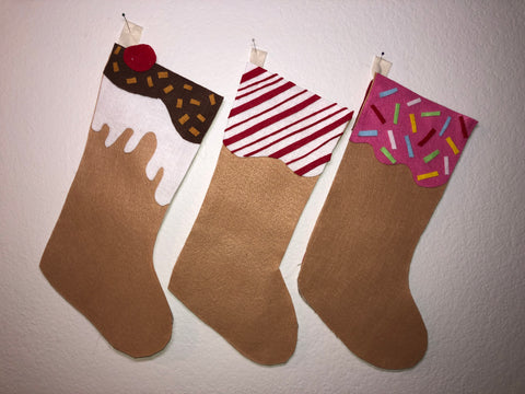 DIY Ice Cream Christmas Stockings