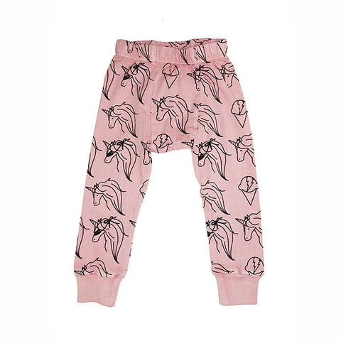 Unicorn Repeat Print Leggings - Pink Haze - Ice Cream Castles