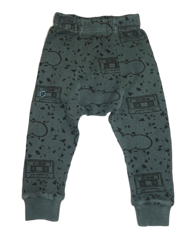 Mint Chip Cassette Print Thermal Pant- Gray - Ice Cream Castles