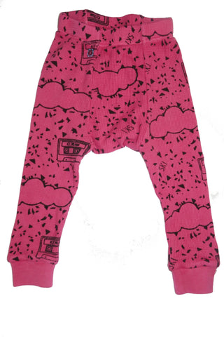 Cassette Print Thermal Pant- Pink - Ice Cream Castles Kids