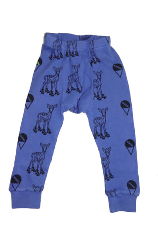 Deer Print Thermal Pant- Blue - Ice Cream Castles