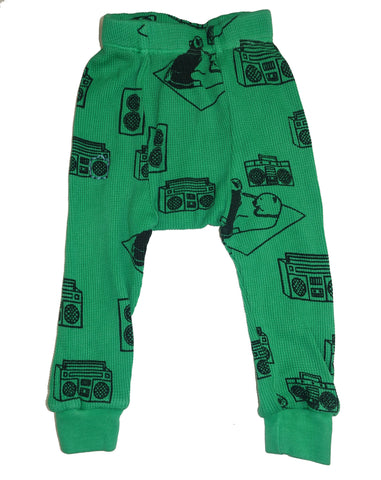 Ice Box Lodge Print Thermal Pant- Green - Ice Cream Castles