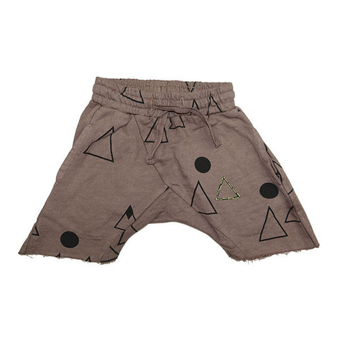 Mountain Print Harem Short- Stone - Ice Cream Castles
