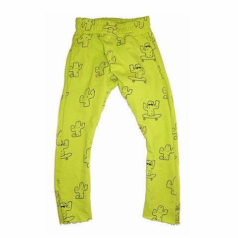 Cactus Print Harem Pant- Electric Lime - Ice Cream Castles