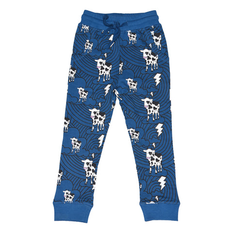 Cow Cloud Joggers in Blue - Ice Cream Castles