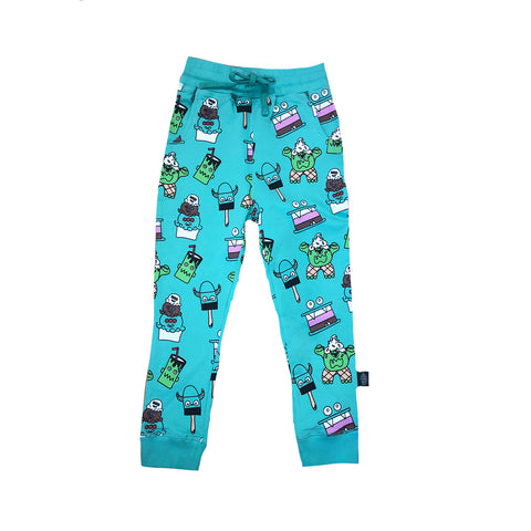 Monster Malt Joggers in Teal - Ice Cream Castles
