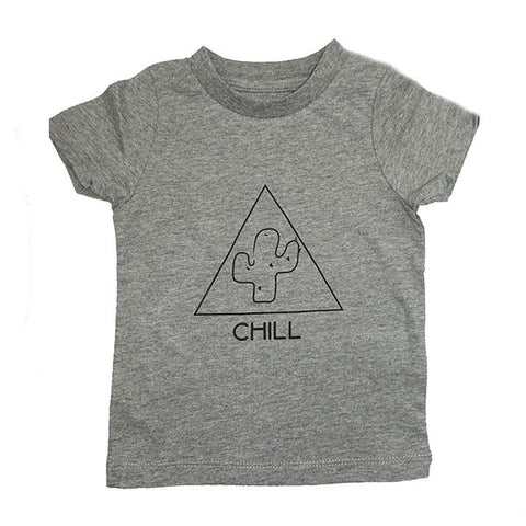 Chill Skate Supply Graphic Print Tee- Heather Gray - Ice Cream Castles