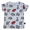 Animal Cookie Print Tee in Gray - Ice Cream Castles