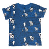 Cow Cloud Tee in Blue - Ice Cream Castles Kids
