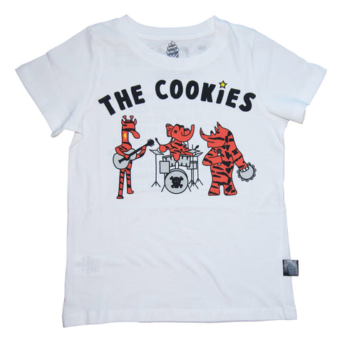 The Cookies Band Tee in White - Ice Cream Castles