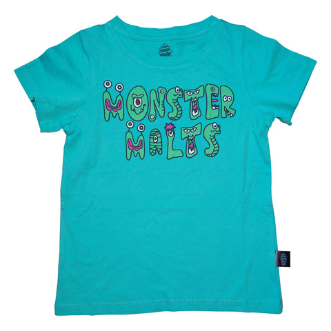 Monster Malts Graphic Tee in Teal - Ice Cream Castles