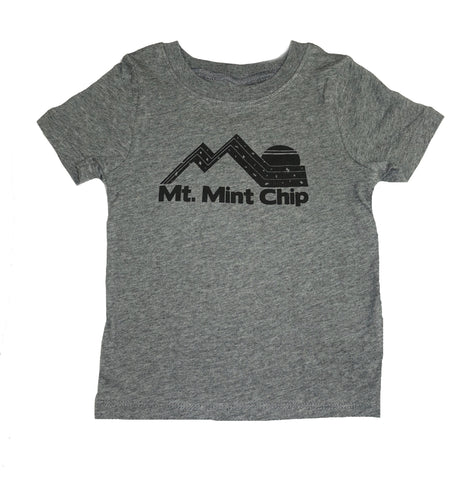 Mt. Mint Chip Graphic Tee- Grey - Ice Cream Castles