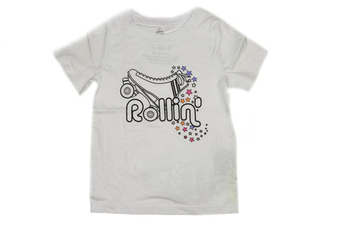 Rollin Graphic Tee- White - Ice Cream Castles