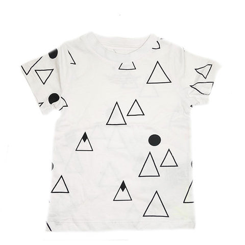 Mountain Repeat Print Tee- White - Ice Cream Castles