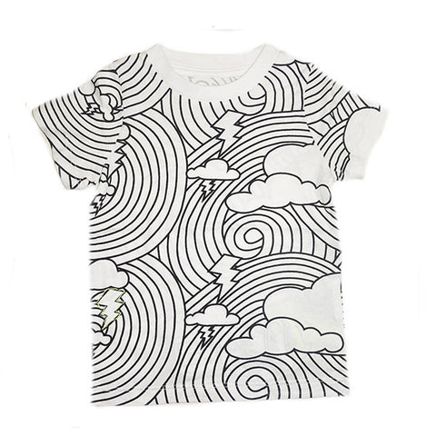 Cloud Lightening Repeat Print Tee
