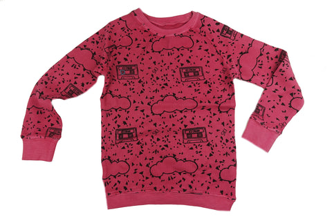 Cassette Print Thermal Top- Pink - Ice Cream Castles Kids