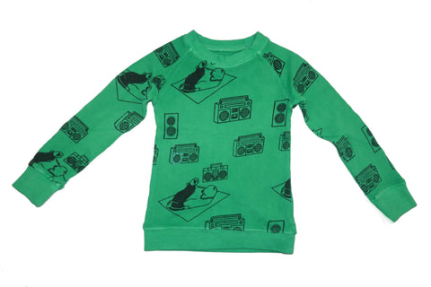 Ice Box Lodge Print Thermal- Green - Ice Cream Castles