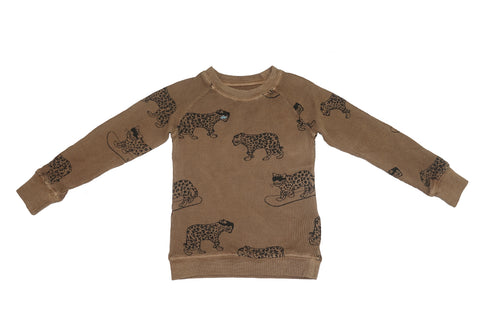 Snow Leopard Print Thermal- Camel - Ice Cream Castles