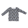 Cow Print Long Sleeve Tee in White - Ice Cream Castles Kids