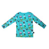 Monster Malts Long Sleeve Tee in Teal - Ice Cream Castles Kids