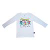 Intermission Graphic Long Sleeve Tee in White - Ice Cream Castles Kids