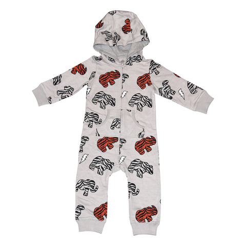 Animal Cookie Print Romper in Gray - Ice Cream Castles Kids