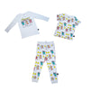 Popcorn Print Joggers in White - Ice Cream Castles