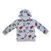 Animal Cookie Zip Hoodie in Gray - Ice Cream Castles Kids