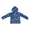 Cow Cloud Zip Hoodie in Blue - Ice Cream Castles Kids