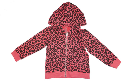 Leopard Print Hoodie- Red - Ice Cream Castles Kids