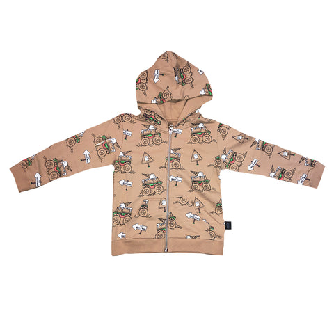 Monster Truck Zip Hoodie in Hazelnut - Ice Cream Castles