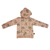 Monster Truck Zip Hoodie in Hazelnut - Ice Cream Castles Kids