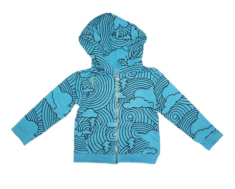 Cloud Lightening Print Hoodie