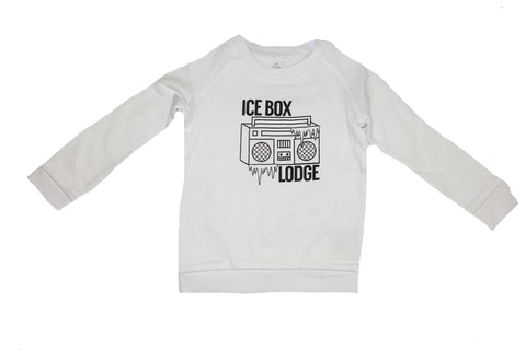 Ice Box Lodge Sweatshirt- White - Ice Cream Castles