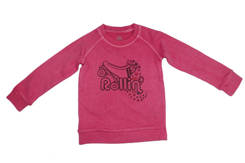 Rollin' Sweatshirt- Pink - Ice Cream Castles Kids