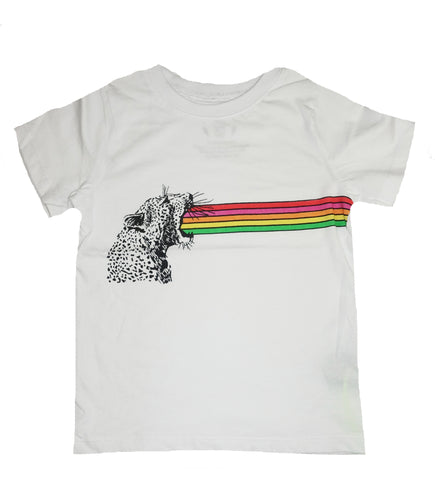 Rainbow Roar Tee- White - Ice Cream Castles