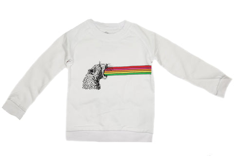 Rainbow Roar Sweatshirt- White - Ice Cream Castles Kids