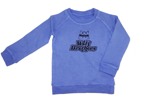 The Wolf Brothers Sweatshirt- Blue - Ice Cream Castles Kids