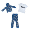 Cow Cloud Joggers in Blue - Ice Cream Castles Kids