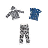 Cow Print Joggers in White - Ice Cream Castles Kids