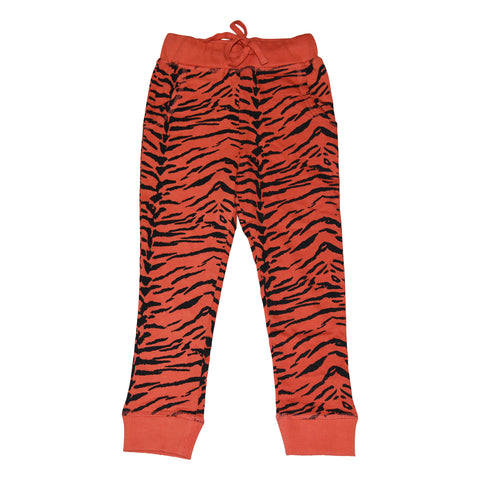 Tiger Stripe Joggers in Living Coral - Ice Cream Castles