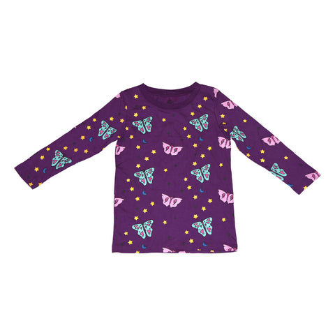 Papillon Long Sleeve Tee in Grape - Ice Cream Castles Kids