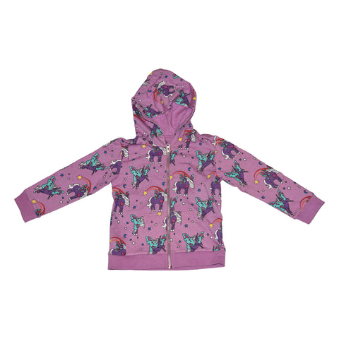 Unicorn Papillon Zip Hoodie in Orchid - Ice Cream Castles