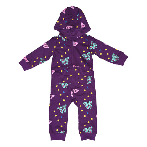 Papillon Romper in Grape - Ice Cream Castles Kids