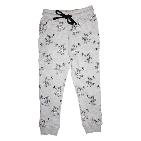 Brain Freeze Repeat Print Joggers in Heather Gray - Ice Cream Castles Kids
